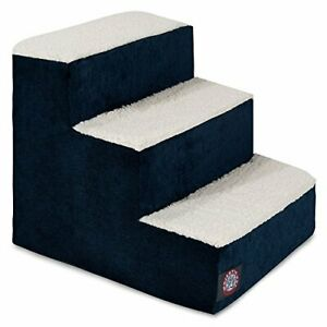 3 Step Portable Pet Stairs By Majestic Pet Products Villa Navy Blue Steps for...