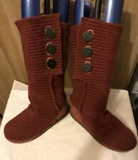 Knitted  Women's  RED UGG Boots UGG Australia   size 38  uk 5.5  US 7