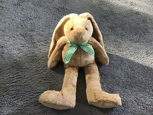 """17"""" Whittard Of Chelsea Rabbit Wearing A Green & White Checked Bow"""