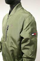Tommy Hilfiger Windbreaker Bomber Denim Übergangsjacke Flag Army Green M-XL OVP