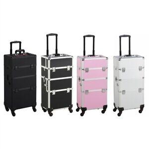 Professional Rolling Makeup Train Case Cosmetic Case Organizer Lockable
