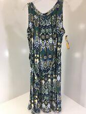 ILE NEW YORK WOMEN'S SLEEVELESS KALEIDOSCOPE SWING DRESS MULTICOLOR SIZE 18 NWT