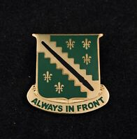 🌟US Army 38th Recon Cavalry Regiment, Always In Front, DUI Crest, Lapel Hat Pin