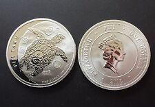 1/2 Oz  FIJI TAKU 2012 Schildkröte 1 Dollar 1/2 Unze 999 Feinsilber prägefrisch.