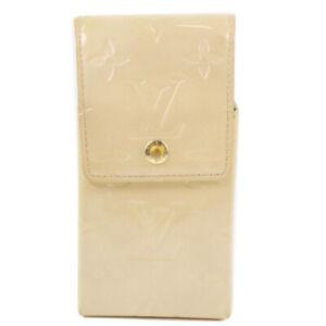 LOUIS VUITTON M91050 Cigarette case Shoulder Bag beige Monogram Vernis Women