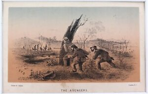 """RARE 1859 COLONIAL ART. S T GILL TINTED LITHOGRAPH """"RAMBLES in the ANTIPODES"""" #7"""