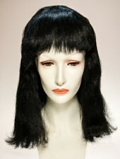 Cleopatra Style Black Shoulder Length Synthetic Hair Costume Wig With Bangs