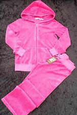 NWT Juicy Couture New Genuine Girls Age 8 Full Pink Cotton Toweling Tracksuit