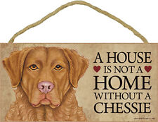 Chesapeake Bay Retriever Indoor Dog Breed Sign Plaque - A House Is Not A Home.
