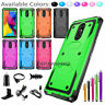 For LG Stylo 3 4 5 / Plus Shockproof Hybrid Armor Rubber Rugged Case Phone Cover