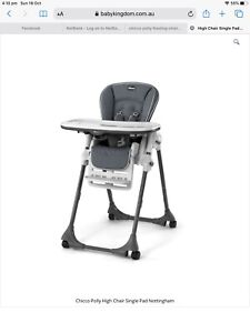 Chico Polly High Chair newborn to 3 years + convertible and height adjust.