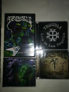 TROUBLE CD + DVD LOT OF 4 FACTORY SEALED NEW 2006-2009 Escapi USA DOOM METAL