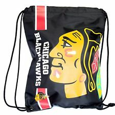 Chicago Blackhawks Drawstring Bag NHL Hockey Officially Licensed Gym Tote