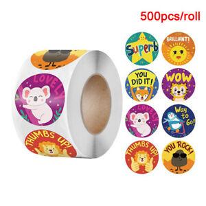 500pcs Animals Cartoon Stickers For Kids Toys School Teacher Reward Sticker