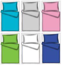 Kinderbettwäsche Uni 100% Baumwolle 40x60 cm + 100x135 cm