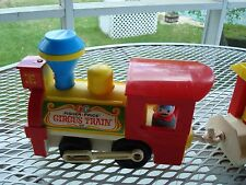FISHER PRICE CIRCUS TRAINS ENGINE 991 AND SET AND ANOTHER CIRCUS TRAIN