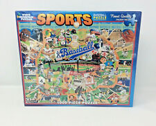 White Mountain Jigsaw Puzzles MLB Baseball History 1000 Pieces Sports Trivia NIB