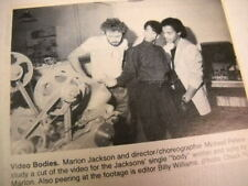 MARLON JACKSON video bodies Original 1984 music biz promo pic with text