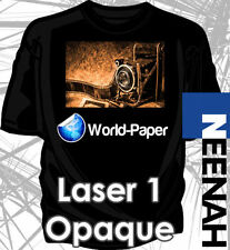 "Laser Iron-On Heat Transfer Paper - For Darks 50Pk Neenah 1 Opaque 8.5"" x 11"" :)"