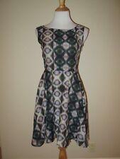 SONIA DE NISCO Italy Fit & Flare Dress /Cut Out Back Sleeveless- Size 40- EUC