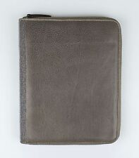 NWT BRUNELLO CUCINELLI Gray Leather Ipad Air 2 3 4 Tablet Case 9.60X7.75 $1575