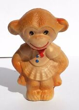 1960s Vintage Ussr Russian Soviet Sound Rubber Toy Monkey Girl