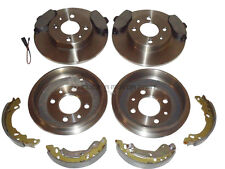 FIAT 500 1.2 FRONT BRAKE DISCS PADS & REAR 2 DRUMS & SHOES SOLID DISCS WITH ABS