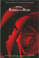 BEAUTY AND THE BEAST MOVIE POSTER 27x40 DS IMAX VERSION 2002 DISNEY ANIMATION