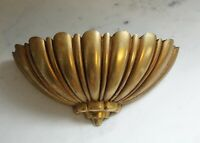 Vintage Hollywood Regency Syroco Gold Wall Hanging Graduated Pocket Planter 1960