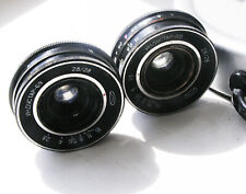 2 INDUSTAR-69 Russian USSR wide Lenses  2.8/28mm M39 from Chaika camera.