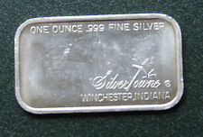 HORSE & CARRIAGE SILVER TOWNE WINCHESTER INDIANA 1 TROY OZ .999 FINE SILVER BAR