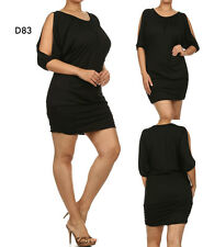 D83 New Womens Black Size 16/18 Spring Office Work Casual Day Bodycon Plus Dress