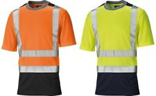 Dickies Hi Vis High Visibility Two Tone Mesh T-Shirt Yellow / Orange SA22081