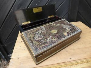 Antique early 19th C. French Boulle inlaid Lap desk by Maison Alphonse Giroux