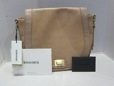 Brahmin Lrg Sonny Crossbody Messenger Bag, GINGER Charleston Smooth Leather Read