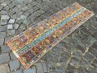 Patchwork, Turkish rug, Vintage rug, Handmade rug, Runner rug, Woll 1,4 x 4,4 ft