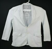 Haspel Seersucker Sport Coat Jacket Gray Two Button Mens Size 44 L