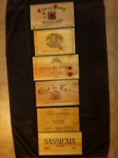 6 Different wooden wine box end panels