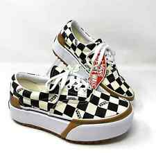 VANS ERA Stacked Checkerboard Multi Platform Size Women's Sneakers VN0A4BTOVLV