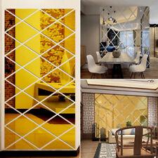 Bricolaje 3D Pegatinas Espejo Adhesivo Pared Sala Hogar Decoración Vinilo Art De