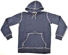 Quiksilver Mens Major Zip Full Zip Hoodie Sweatshirt SZ M Navy Blue
