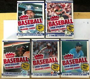1984 Fleer Baseball Factory Sealed Cello Pack Mattingly RC 5 Pack Lot Brett Top