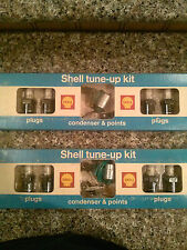2 Shell tune-up Kits Contains Spark Plugs, Condensers & Points
