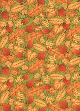 Great Harvest Leaves 1 Fat Quarter 100% cotton fabric fall autumn quilting