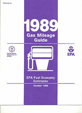 1989 FUEL ECONOMY AND MILEAGE GUIDE FORD LINCOLN MERCURY CHEVY PONTIAC BUICK