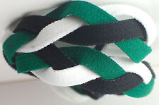 NEW! Green Black White Grippy Band Headband Hair Sport Soccer Softball Stretchy
