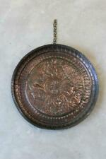 More details for antique indian copper charger wall tray decorative