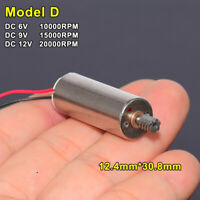 Mini Micro 12mm 5-Pole Coreless Electric Motor DC 5V 6V 12V 20000RPM High Speed