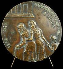 Médaille ASSISTANCE PUBLIQUE DE PARIS sc de Herain 75mm 1949 helping Medal