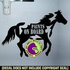 Paints On Board Caution Vinyl Decal Sticker Paint Horse Trailer Caution Sign Blk